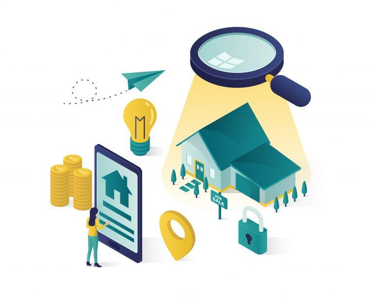 real estate info vector