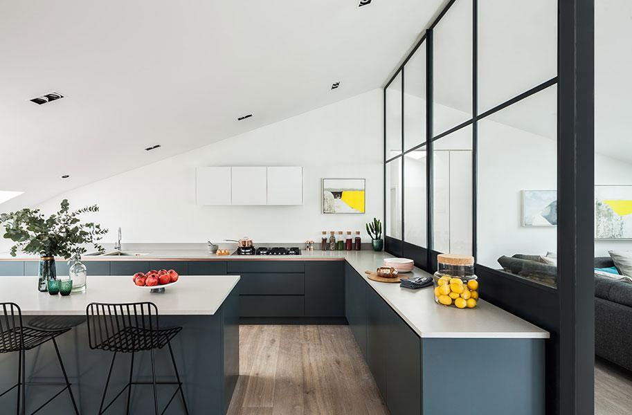 Kitchen Glass Partition Wall | TC&D Construction