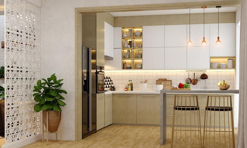 Bohemian kitchen partition design gives space to your open kitchen