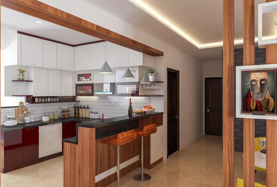 Kitchen with breakfast counter   Kitchen design, Rooms home decor, Elegant home decor