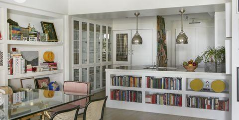 Room, Furniture, Interior design, Property, Shelf, Building, Ceiling, Shelving, Floor, Home,