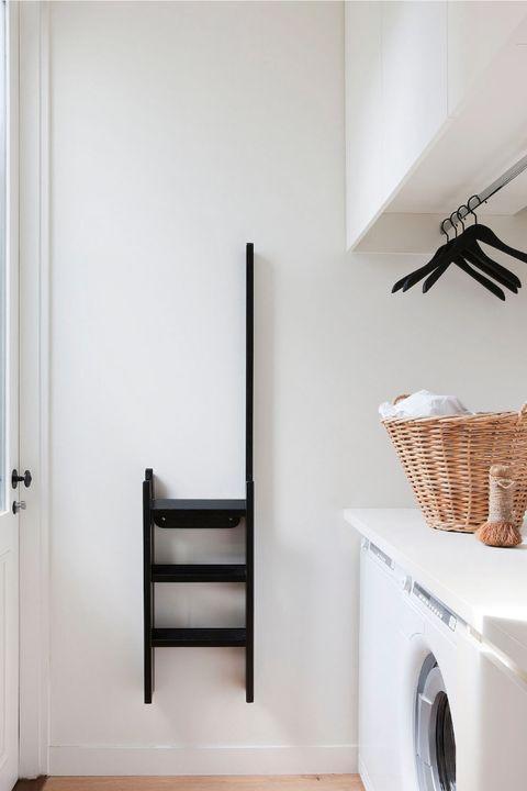 White, Room, Property, Wall, Furniture, Floor, Interior design, House, Shelf, Home,