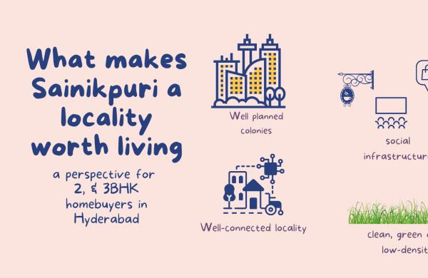 What makes Sainikpuri a locality worth living