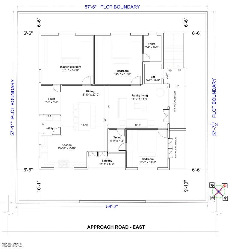 Typical Floor Plan Tamanna Lake View