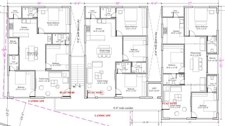 Tamanna Greens Typical Floor Plan