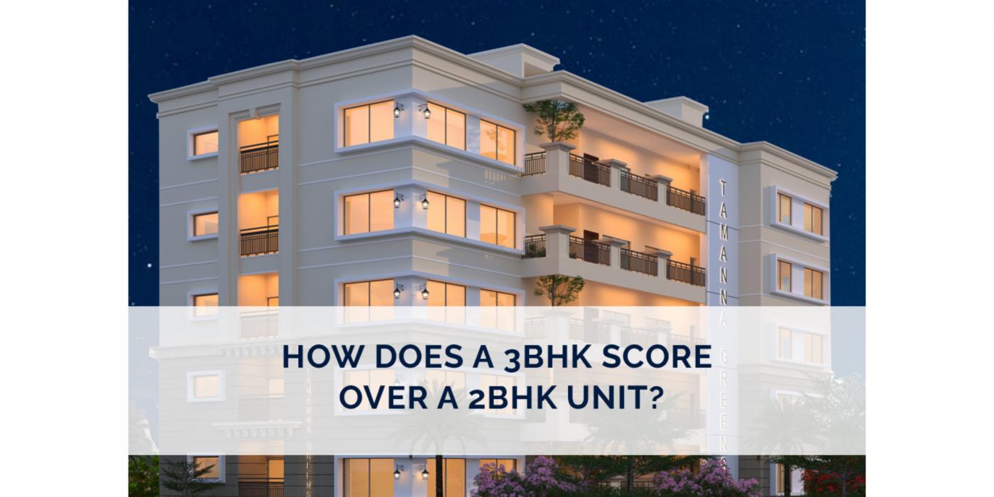 pick 3 BHK apartments