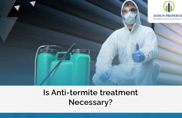 anti-termite treatment of the foundation